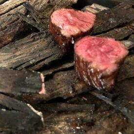 Wagyu Ribeye w/ hickory smoked, mushroom, herbs